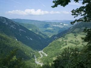 France, Arial view of mountains by Assaf Frank