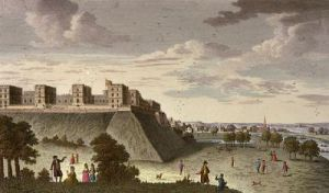 Windsor Royal Castle & Palace (Restrike Etching) by Anonymous
