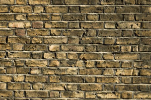 UK, London, Close-up of brick wall, full frame by Assaf Frank