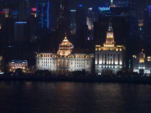 Shanghai skyline and night by Assaf Frank