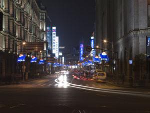 Street at Night, The Bund, Shanghai by Assaf Frank