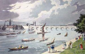 Waterloo Bridge (Restrike Etching) by Robert Havell