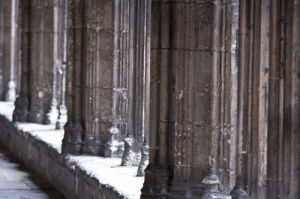 Canterbury cathedral curch columns by Assaf Frank