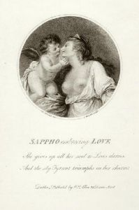 Sappho Embracing Love (Restrike Etching) by Giovanni Battista Cipiriani