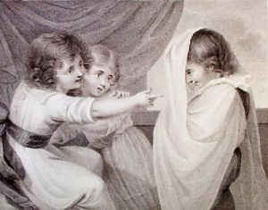 The Ghost (Restrike Etching) by Richard Westall