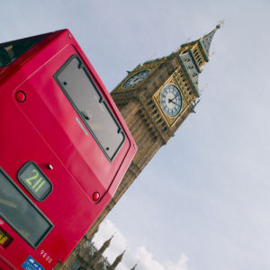 Big ben and a bus by Assaf Frank
