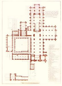 Chester Cathederal (Floor Plan) (Restrike Etching) by Coney