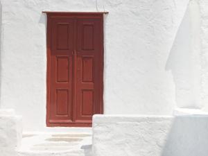 Church door, Mykonos, Cyclades Islands, Greece by Assaf Frank