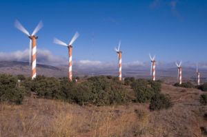 Wind Turbine on hill by Assaf Frank