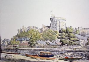 Windsor Castle (Restrike Etching) by Graham Clilverd