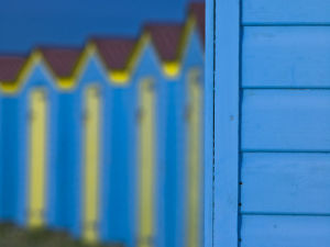 Beach Huts, West Sussex, UK by Assaf Frank