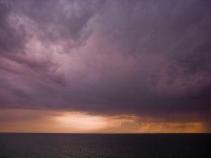 Sea at dusk by Assaf Frank
