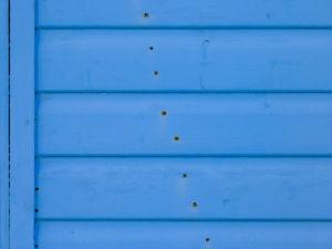 Beach hut close-up by Assaf Frank