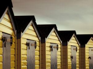 Beach huts close-up by Assaf Frank