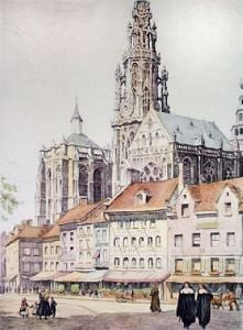 Antwerp (Restrike Etching) by Anonymous