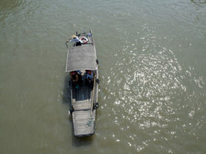 Boat in the river, Zhujiajiao, Shanghai by Assaf Frank