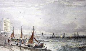 Brighton, Chain Pier (Restrike Etching) by William Henry Bartlett