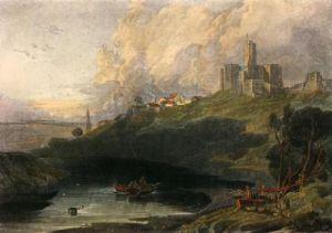 Warkworth Castle (Restrike Etching) by Joseph Mallord William Turner