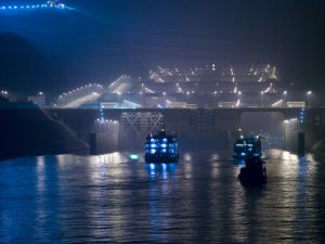 Ship Lock, Three Gorges Dam, China by Assaf Frank