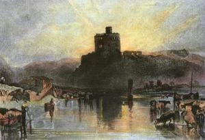 Norham Castle on River Tweed (Restrike Etching) by Joseph Mallord William Turner
