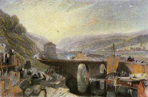 Kirkstall Lock on the River Aire (Restrike Etching) by Joseph Mallord William Turner