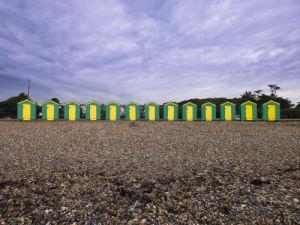 Beach huts, Littlehampton England by Assaf Frank