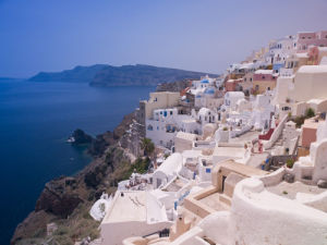 Greece, Cyclades. Santorini Island, elevated view by Assaf Frank