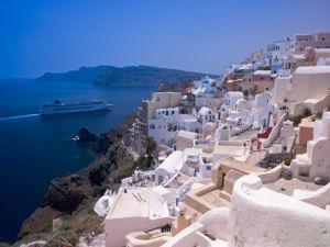 Greece, Cyclades. Santorini Island. View of Oia by Assaf Frank