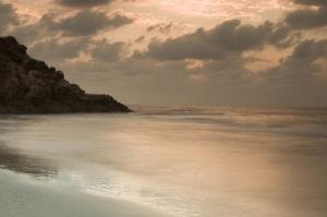 Beach against sky,  Israel, Palmahim beach by Assaf Frank
