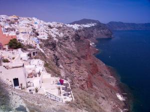 Greece, Cyclades, Santorini Island, View of Oia by Assaf Frank
