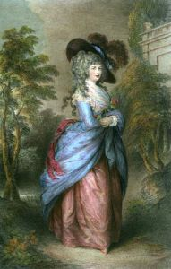 Georgina, Duchess of Devonshire (Restrike Etching) by Thomas Gainsborough