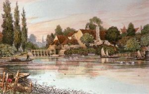 Iffley Mill (Restrike Etching) by Walter William Burgess