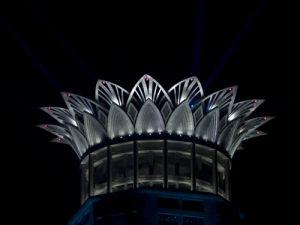 Westin hotel at night, Shanghai by Assaf Frank
