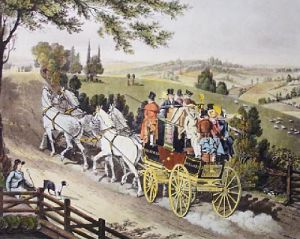 Stagecoach (Restrike Etching) by James Pollard