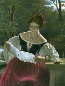 The Love Letter (Restrike Etching) by Joseph Francis Walker