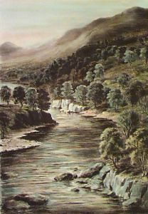 Banks of Braes (Restrike Etching) by Anonymous