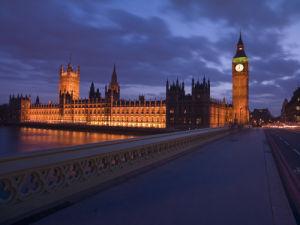 England,London,Westminster bridge at night by Assaf Frank