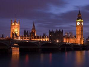 England,London,Westminster bridge at dusk by Assaf Frank
