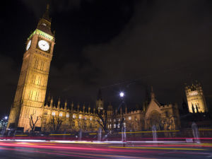 Houses of parliament and big ben at night by Assaf Frank