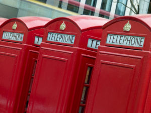 Three London Telephone Boxes by Assaf Frank