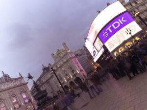 Piccadilly Circus at Night 1 by Assaf Frank
