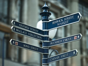 Oxford Circus Sign Post by Assaf Frank