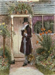 Where the Widow Lives (Restrike Etching) by Walter Dendy Sadler