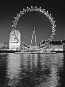 London Eye Millennium Wheel Night by Assaf Frank