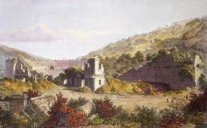 Architectural View - Chap.III (Restrike Etching) by Frederick MacKenzie
