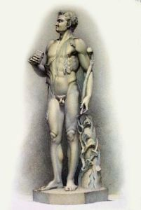 Statue - Pl. XXVI (Restrike Etching) by Anonymous