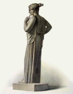 Statue - Pl. XLIII (Restrike Etching) by Anonymous