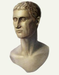 Marble Bust - Pl. XL (Restrike Etching) by Pistrucci