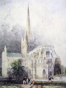Norwich Cathedral (Restrike Etching) by Anonymous
