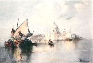 A Memory of Venice (Restrike Etching) by W. Knox